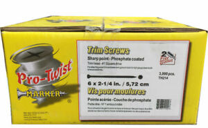 Pro-Twist 2-1/4 Trim Screws for $29.99 (6030 50 Street)