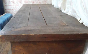 Harvest Table and 2 shelves for sale