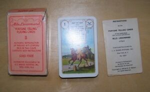 Vintage Red Owl Mlle Lenormand Fortune Telling Cards