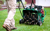 Lawn Aeration Book Now For This Spring!!