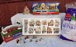 Huge Christmas village, just set up!