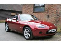 2007/57 MAZDA MX5 1.8 ICON. COPPER RED METALLIC ONLY 42000 MILES.