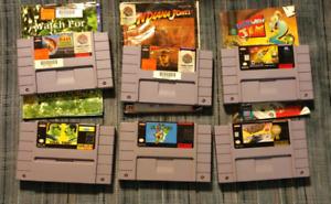 Super Nintendo games - pricing in ad