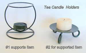 2 Tea Candle Holders, Black, excellent condition, $5 each