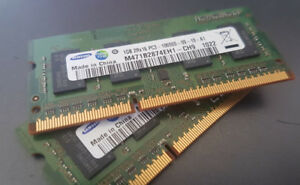 Laptop memory RAM DDR3 1 GB each 2 GB total