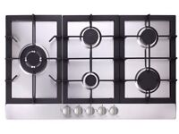 90cm Stainless steel 5 burner Hob Flavel ARGHD90SS cut out 730mm x 490mm