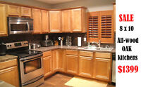 all wood kitchen and vanity cabinets