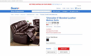 Chevalier II' Bonded Leather Motion Sofa 3 seats Kitchener / Waterloo Kitchener Area image 1