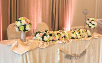 Party/ Wedding Deco Package $250 (15 Guest tables & Head Table)