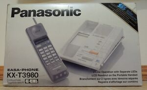 Panasonic KX-T3980 2 Line Cordless Phone Brand New In Box