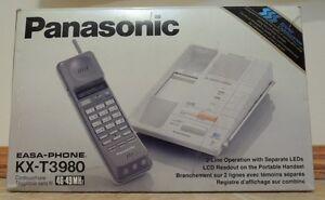 Panasonic KX-T3980 2 Line Cordless Phone Brand New In Box
