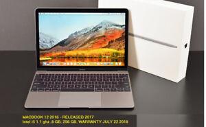 APPLE MACBOOK 12'' RETINA i5 1.1GHZ 8GB 256GB, 22 07 18 Warranty