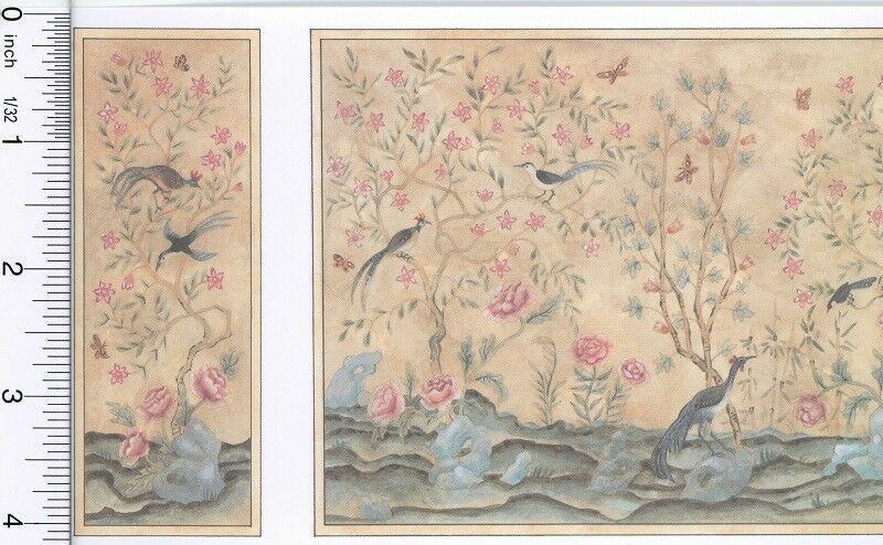 Dollhouse Wallpaper Chinoiserie Panels