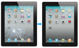 iPad 1 / 2 / 3 / 4 Screen Digitizer Repair $55 - Warranty