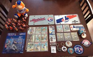 Lot d'items:Collectionneurs Expos de Montréal baseball exc.cond!