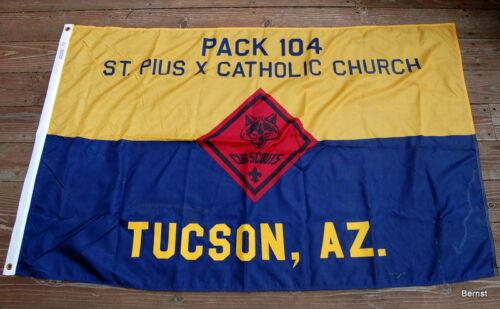 BOY SCOUT- CUB PACK 104 PACK FLAG - TUCSON, AZ - 3x5 NYL-GLO