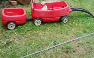 Step 2 Wagon with Tag-Along trailer
