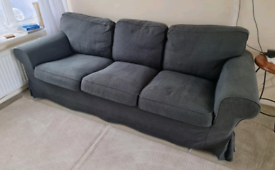 Navy Blue 3 Seater Sofa/Couch