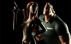 Venture Bros. Brock Samson and Molotov Statues and Print