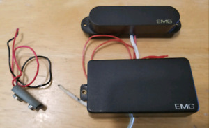 PAIR OF EMG 81 ACTIVE PICKUPS HUMBUCKER AND SINGLE COIL