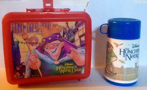 HUNCHBACK OF NOTRE DAME ALADDIN  LUNCH BOX AND THERMOS