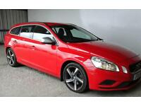 2012 VOLVO V60 D3 R-DESIGN 6 SPEED MANUAL BRIGHT RED FSH AMAZING VALUE