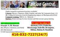 Tutors in Scarborough Port Union,Pickering, Ajax,Withby area