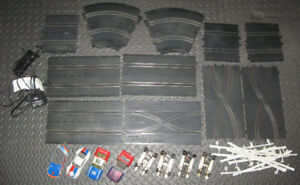 1977 Cox Super Scale Slot Car Track + Cars FOR PARTS/REPAIR