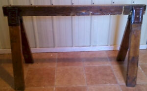 *****Wooden Sawhorses-48 x 28 – Sturdy – Varnished*****