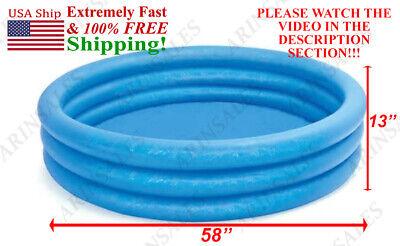 Intex blue pool crystal 58X13inch summer float tube swim kid fun !! SEE VIDEO !!