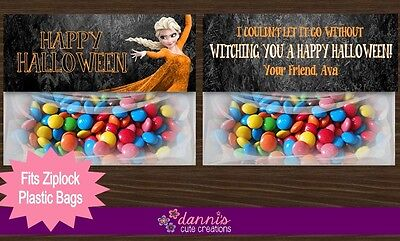 Elsa Halloween Treat Bag (Frozen Halloween Elsa Birthday Party Favor Treat Bag Toppers Favors)