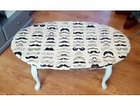 Free Coffee Table - Custom Design (Mustaches)