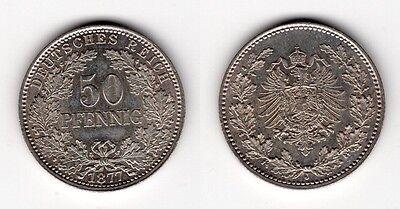 50 Pfennig 1877 J   ERHALTUNG !