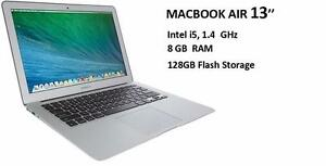 MACBOOK AIR 13 2014-mid  i5 1.4 GHZ 8 GB 128GB + Office Pro 2016, LOGIC PRO X, MASTER SUITE DE ADOBE