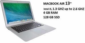 MACBOOK AIR 13 i5 1.3GHZ 4GB RAM 128 GB SSD +OFFICE PRO 2016,MASTER SUITE DE ADOBE,LOGIC PRO X,FINAL CUT PRO X,