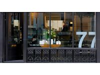 Salon assistants wanted for 77 Hairsalon