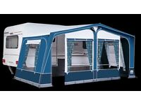 Caravan full awning, Dorema 12, Scirocco green, curtains, used once, in pristine condition.