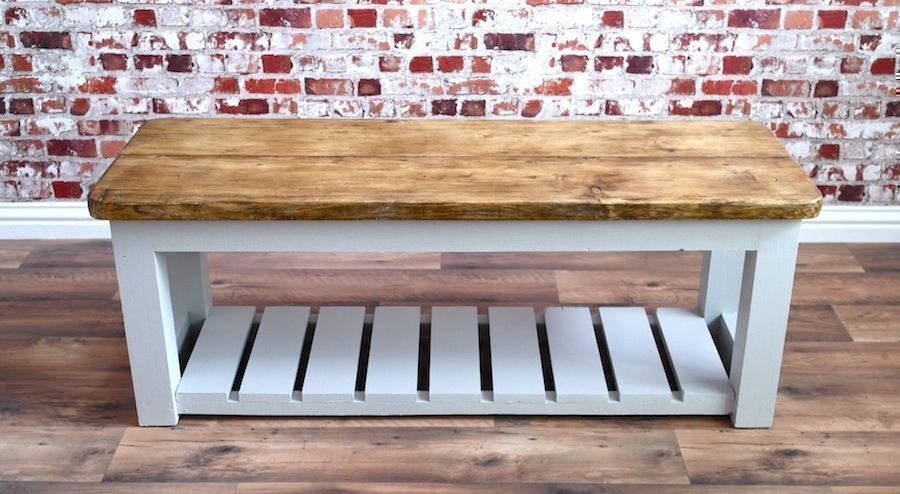 Rustic Benches Farmhouse Kitchen Dining Bench Storage Pew Reclaimed Wood  Pine Timber