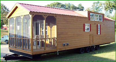 2018 12x40 RUSTIC Shack Reserve Form MOBILE Dainty Where one lives stress-PORCH-FOR RV Deposit-TENNESSEE