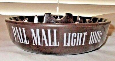 1960s PALL MALL LIGHT 100'S PLASTIC ASHTRAY / BROWN & WILLIAMSON PROMO (100 Ashtray)