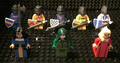 Custom Lego   Bricks   5 Knight Statues And 3 Ladies Lot  Series S2  New