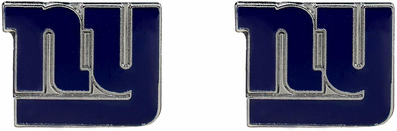 New York Giants NFL Silver Post Stud Earrings Charm Logo