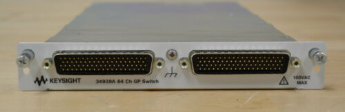 Agilent Keysight 34939A 64-Channel Form A General Purpose Switch for 34980A 2ava