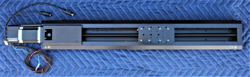 ZABER T-LST0500A MOTORIZED LINEAR STAGE BUILT IN CONTROLLER 500MM TRAVEL