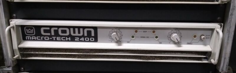 CROWN MACRO-TECH 2400 POWER AMPLIFIER-TESTED-NICE-2100W (1050WPC@2ohms) 1 of 2