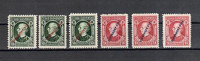 Slowakei Michelnummer 24 - 25 A,B,C  postfrisch (europa:3521)