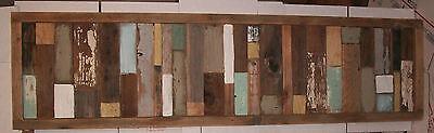 Reclaimed Barn Wood Headboard Close off Art Panel Modern Rustic Shabby Chic Farmhouse