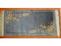 Silk hand-cut blue chinese rug in very good condition