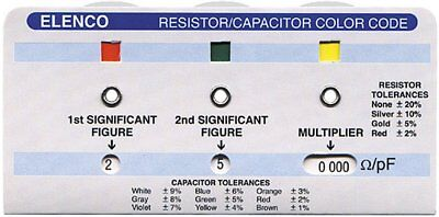Resistor Color Code Calculator Capasitor Elenco Cc-100