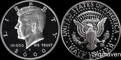 2000 S 90% Silver Kennedy Half Dollar Deep Cameo Gem Proof No Reserve